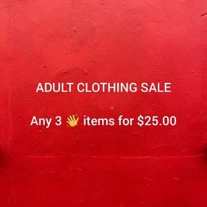 ADULT CLOTHING SALE